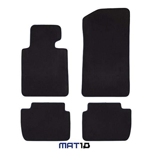 MAT10 Alfombrillas para BMW E46 de edición Especial, año de construcción 2000-04 - 2006-05, Terciopelo, 4 Piezas, Color Negro, Ajuste garantizado, LL BMW E46