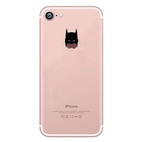 Shot Case Coque Silicone iPhone 7 Batman Fun Apple Bruce Wayne Tete Pomme Transparente Protection Gel Souple