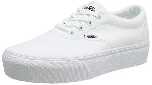Vans Doheny Platform, Zapatillas para Mujer, Lona Blanca 0rg, 35 EU