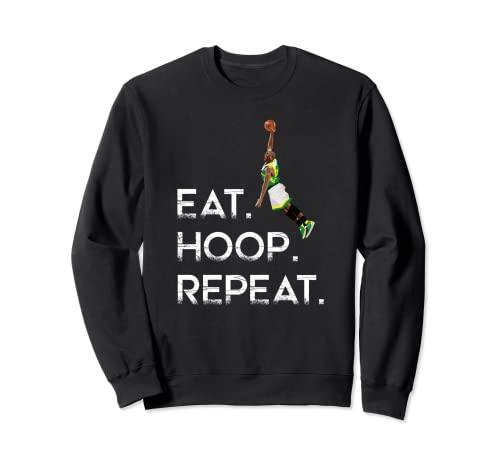 Eat Hoop. Repeat - Balón de baloncesto Sudadera
