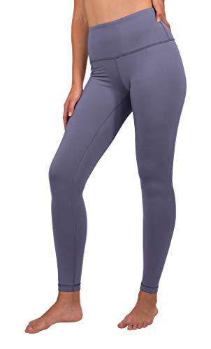 90 Degree By Reflex High Waist Fleece Lined Leggings - Yoga Pants - Lavender Night - Small