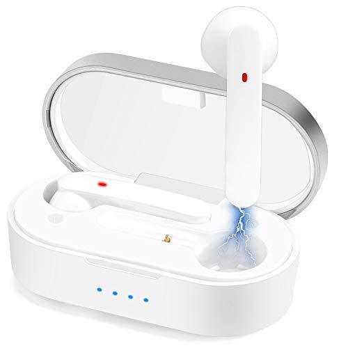 Auricolari senza fili, Bluetooth 5.0 in-ear Bluetooth, bassi profondi 3D, CVC 8.0 con cancellazione del rumore microfono senza fili, IPX5 impermeabile controllo touch
