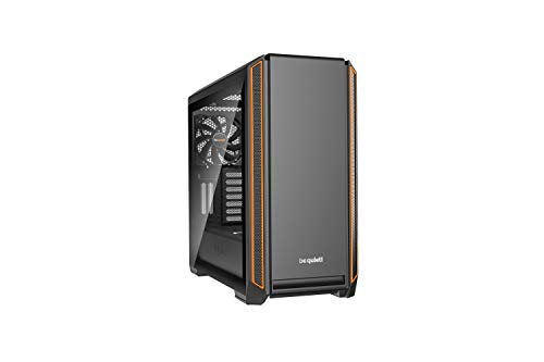 be quiet! Silent Base 601 ATX PC Midi Gehäuse mit Seitenfenster Orange BGW25