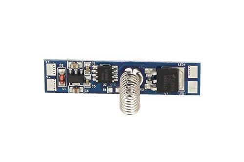 LEDLUX Led Dimmer Touch Interruttore A Sfioramento Sfumature 12V 24V 8A Con Led Blu Indicatore Per Profilo Alluminio TD002