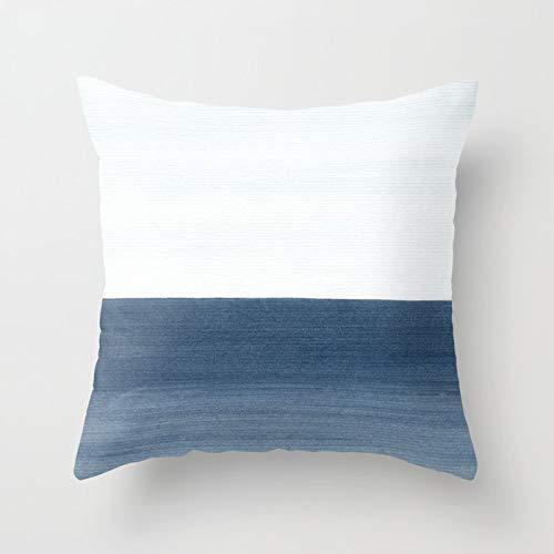 PPMP Acuarela Azul Abstracto mármol patrón geométrico sofá Funda de Almohada Dormitorio decoración del hogar Funda de cojín Funda de Almohada A6 45x45cm 1pc