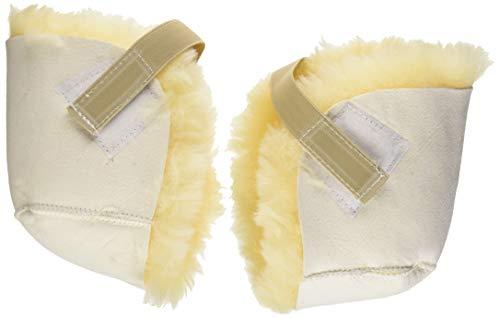 PCP Sheepskin Pressure Relief Sores Heel Protectors, White