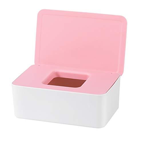 QKFON Caja de almacenamiento para toallitas húmedas, toallitas húmedas, para papel de seda seco y húmedo, soporte para servilletas, toallitas húmedas, soporte dispensador con tapa para el hogar y la