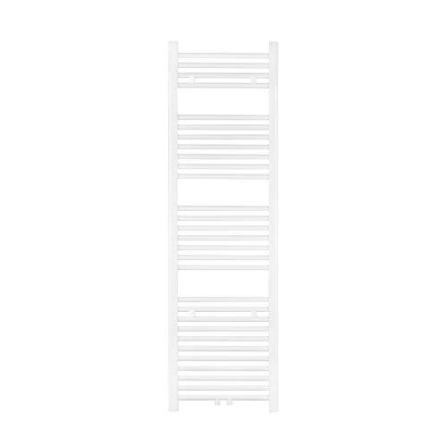 VILSTEIN Bad Heizkörper, Flach, Weiß, Seitenanschluss und Mittelanschluss, 1500x450 mm