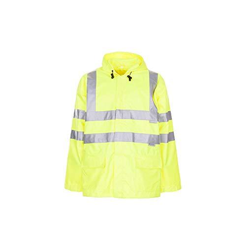 Größe L Herren Planam Warn-/Wetterschutz Regenjacke Uni uni-gelb Modell 2062