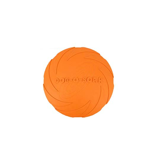 Andiker犬フライングディスク玩具の犬フリスビー玩具のペットフライングソーサー、耐久性のあるゴム製トレ...