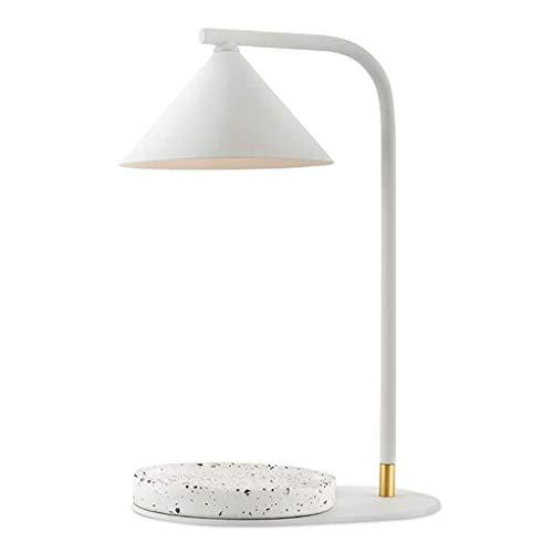 JJZXD Lámpara de Estilo Industrial, Hierro rústica lámpara de Escritorio for la Oficina en casa, lámpara de Mesa Moderna Simple con Pantalla de Vidrio Transparente, for de Noche Mesilla de Noche