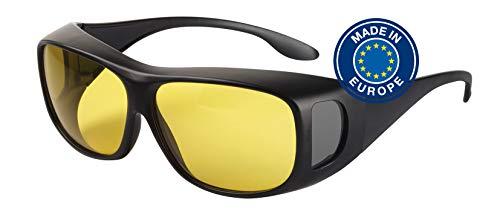 Blaulichtfilter – Überbrille – Fit-Over-Brille, Blue Blocker mit Kantenfilter 450, UV-Schutz, Blendschutz, kontraststeigernde Unisex-Lichtschutzbrille IV PROSHIELD