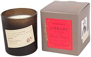 Library Collection Paddywax Charles Dickens - 6.5oz - Tangerine, Juniper, Clove Soy Wax Candle in Recyclable Tea Light Holder - 60 Hour Burn …