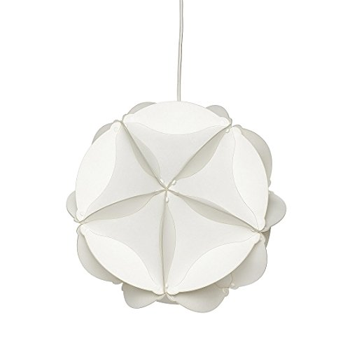 hubsch Funky Design - Lámpara Redonda de plástico (tamaño pequeño), Color Blanco