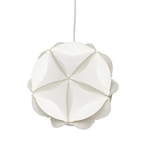 Hubsch Funky Design Petite lampe ronde en plastique Blanc