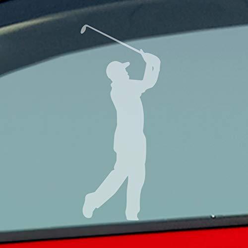 Auto Aufkleber in deiner Wunschfarbe Golfer Golf Minigolf Sport WGC PGA 10x4cm Autoaufkleber Sticker Folie