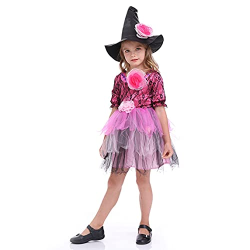 Petrichori Halloween Disfraces para Niños Ropa para Niñas Little Witch Princess Dress Trajes para Niñas Disfraces De Mascarada - Morado L