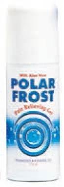 Polar Frost max Natural Fast Efficace Sollievo dal dolore 75ml rollon