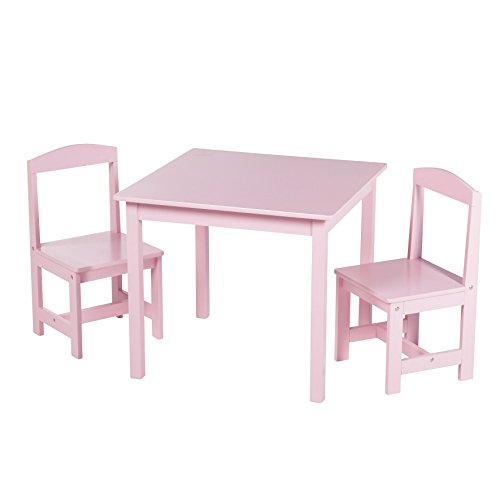 Target Marketing Systems 3 Piece Hayden Kids Table and Chair Set, Pink