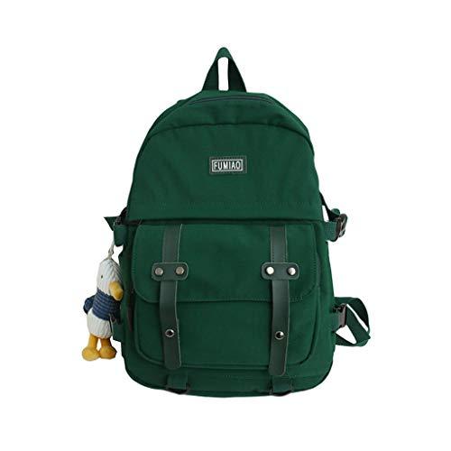 henan Fashion Rucksack Nylon Backpack School Bag Casual College Daypack for Teenager Green