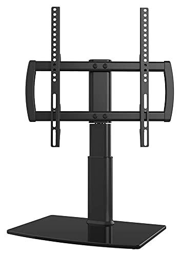 TELEVISOR Tapa de la Mesa de Soporte/Base TELEVISOR Soporte de 32 a 65 Pulgadas TVS 80 Grados Altura giratoria Base de Vidrio Templado Ajustable (Size : HT04B-001P)