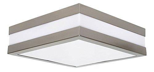Außen Decken Lampe Fassaden Terrassen Haus Tür Chrom Leuchte quadratisch IP44 Kanlux 8981