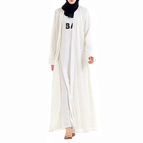 Mnvoa Maxi Mossulman jurk Cardigan Vrouwen kostuum Turks Abaya Islam Lady Jurk Lange mouwen Outwear Kimono mantel met hol ontwerp