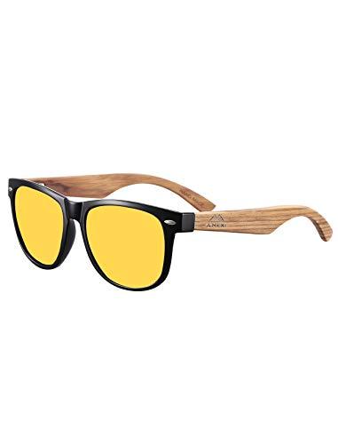 Occhiali da guida notturna HD con visione notturna polarizzati per la pesca | riduzione del rischio | antiriflesso Driver Night Drive occhiali per protezione UV400 occhi ultra leggeri