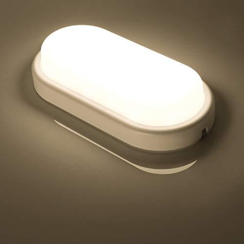 Lampada da soffitto LED, Oeegoo 12W Ovale Lampada da Parete, 960lm IP54 impermeabile Plafoniera LED per soggiorno Sala da pranzo Camera da letto Bagno Cucina Balcone Corridoio, 4000K