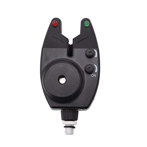 XCSM Indicador de Alarma de mordida de Pesca electrónica a Prueba de Agua, Campana de Alarma de mordida de Sonido con Luces LED, Campanas de Pesca para cañas de Pescar