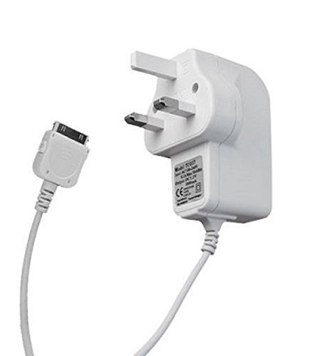 ameego CE APPROVED 2AMP 3 PIN FAST UK MAINS CHARGERS FOR iPad 2,3 & iPhone 4 4S 3G 3GS Apple iPad 1st 2nd 3rd Generation iPod 5th Gen classic nano 1st 2nd 3rd 4th 5th 6th Gen (White)