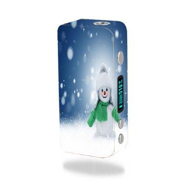 Smok Koopor Mini 60W Vape E-Cig Mod Box Vinyl DECAL STICKER Skin Wrap / snowman Xmas Winter Snow Stars Printed Design