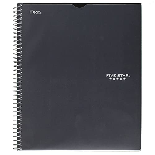 """Five Star Interactive Notetaking, 1 Subject, College Ruled Spiral Notebook, 100 Sheets, 11"""" x 9-1/8"""", Customizable, Color Selected for You, 1 Count (06374)"""
