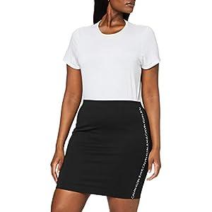 Calvin Klein Milano Logo Elastic Skirt Gonna Donna