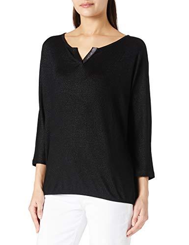 TOM TAILOR Damen Fledermaus Bluse, 14482-Deep Black, XL