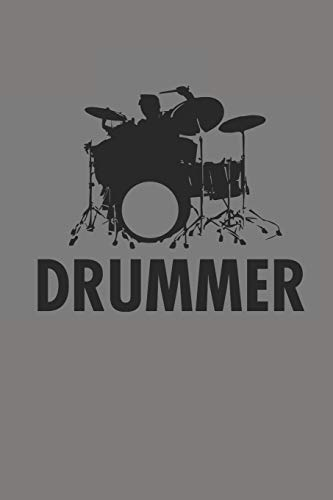 DRUMMER: SCHLAGZEUG NOTIZBUCH Drummer Notebook Drums Bullet Journal 6x9