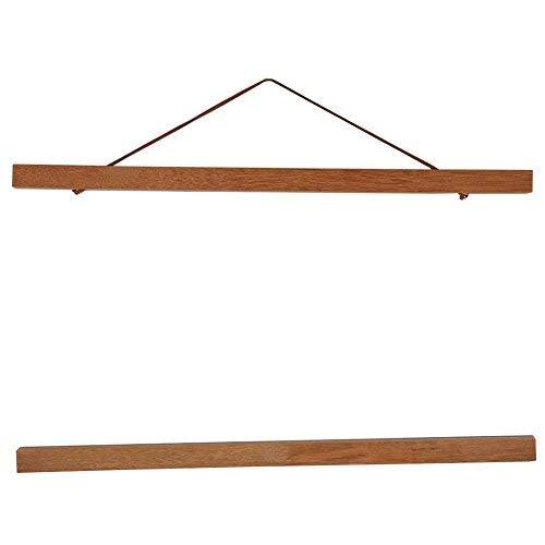 Dewin タペストリー棒、 手ぬぐい チーク 磁石付き 掛け軸風 オフィス 家 装飾ツール ひだまりのら タペストリー棒 手拭額縁 (Size : 40cm)