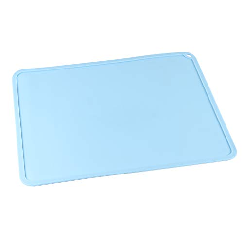 BCZAMD DLP SLA LCD 3D Printer Silicone Slap Mat 408 x 306 mm / 16.06 x 12.04 in Clean Up or Resin Transfer to Protect the Work Surface with Funnel Tweezers for Photon Eleg Mars Wanhao, Blue