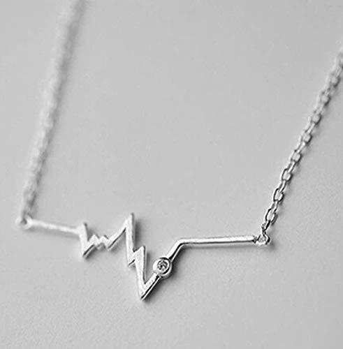 JSYHXYK Halskette Halskette Kurve Halskette Wild Fresh Simple Design Schlüsselbein Ärmel Kette Weiblich