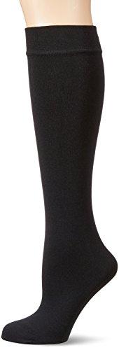 Dim Mi-Bas Thermo Polaire Chaussettes Femme, Noir (Noir), Taille unique (Taille fabricant: 35/41)