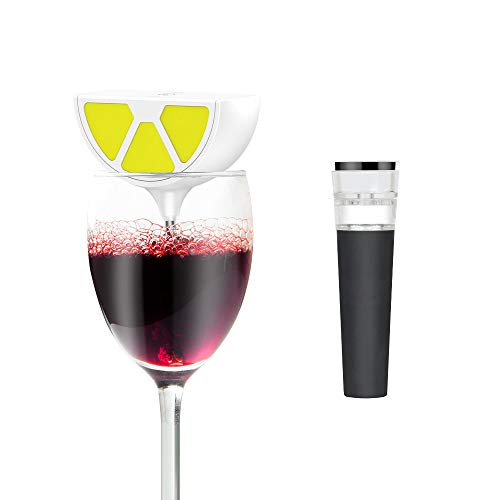 WAERATOR W4 Instant 1-Button Electric Wine Decanter Aerator Wine Breather with Wine Saver Pump-6X More Oxidation for Wines