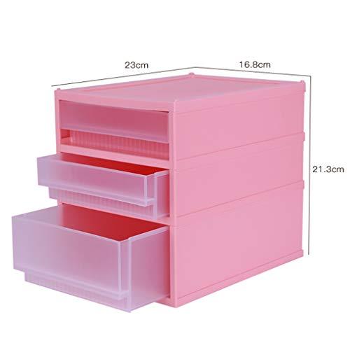Boîte de Rangement cosmétique en Plastique Transparent Bureau Type de tiroir Multicouche Rouge à lèvres Bijoux Produits de Soin de la Peau Boîte de Stockage Affichage FANJIANI