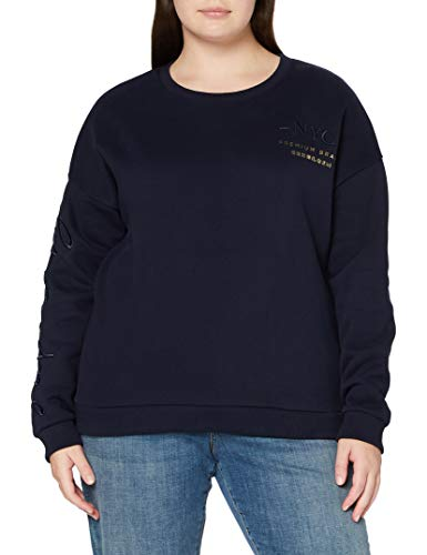 Superdry Established Crew suéter, Marina Nautica, M (Talla del Fabricante:12) para Mujer