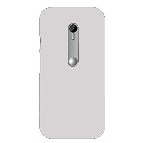 Johra Matte Rubber Silver Hard Back Cover With Screen Guard For Motorola Moto G3