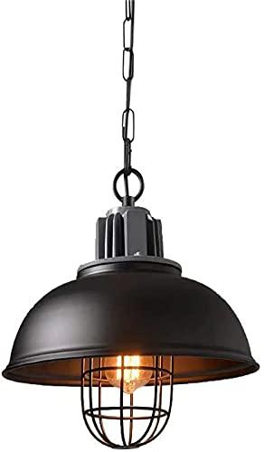 YUNZHIDUAN Lámpara Colgante de Granero, lámpara de Montaje Semi Empotrado de 1 luz, lámpara con Acabado de Bronce frotado, lámpara de Techo de Granja de 12,9 Pulgadas, lámpara Colgante de Jaula