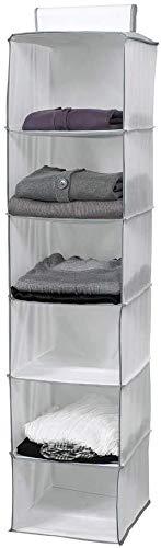 Compactor Estantería Colgante Flexible para Calzado Y Ropa, Non Woven 75G | Cedar, Blanco, 30 x 30 x 128 cm