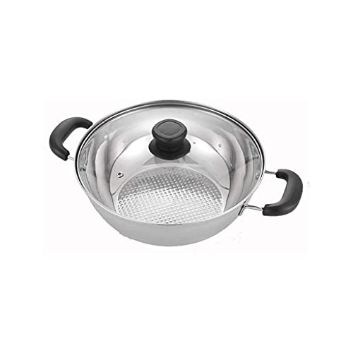 FGDSA Cookware pan Sets Made of Stainless Steel Induction Safe Saucepan Casserole Casserole pan with Glass lid