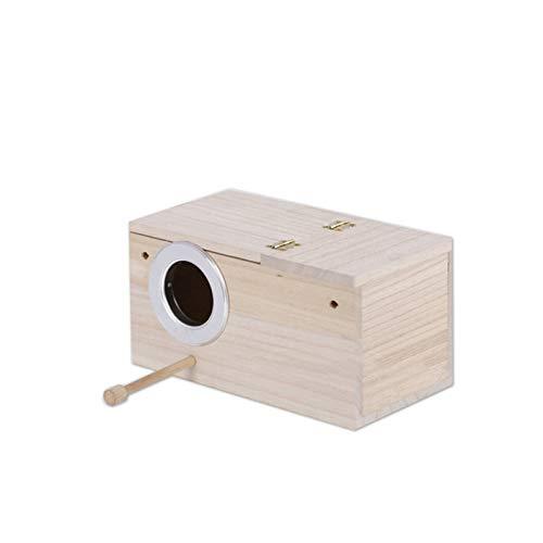 Lamps Hölzerne Vogel Nistkasten, Sittich Wellensittich Kanarienvogel Zucht Box, Vogel Schachteln Feeding Station House (Size : 13 * 13 * 24.5cm)