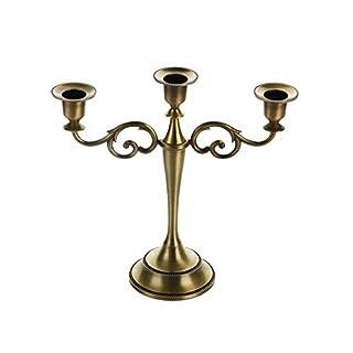 LULAA キャンドルスタンド キャンドルホルダー 5本 3本立て 灯燭台 蝋燭立て アンティーク ロマンチックな雰囲気作り インテリア パーティ 記念日 クリスマス 三色