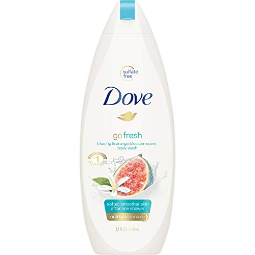 Dove Go Fresh Body Wash 100% Gentle Cleansers, Sulfate Free Blue Fig and...